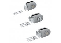 GL 616-W 'ENZO' Glass Lock (Single Key)